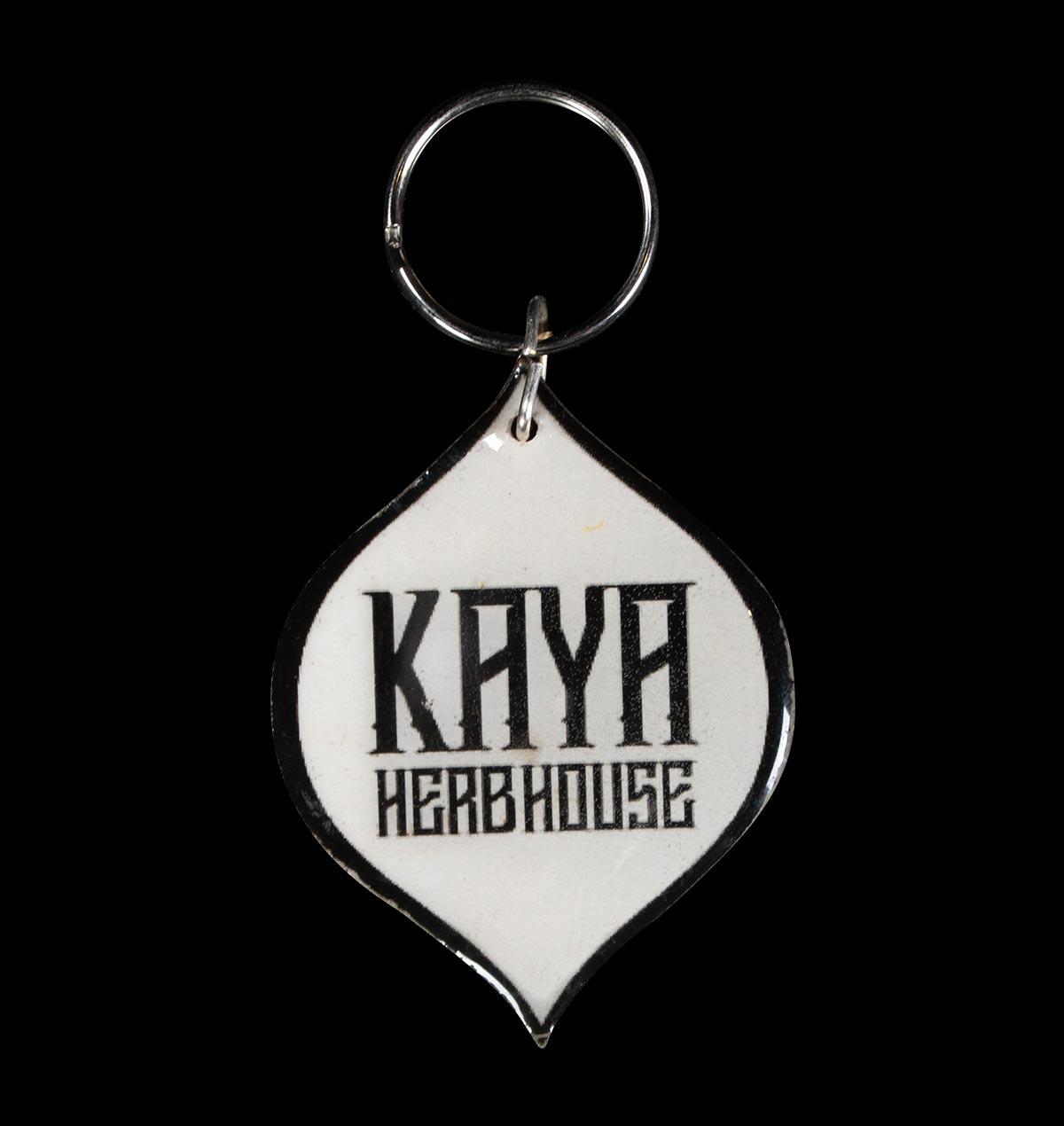 Kaya Seed Metal Keychain