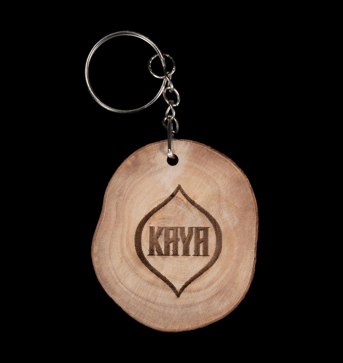 Kaya Seed Wood Keychain