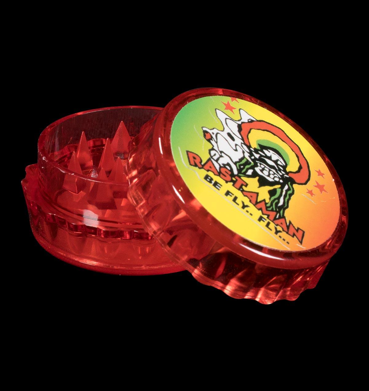 Red Plastic Rastaman Grinder